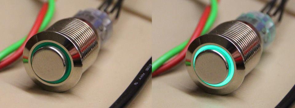 Vandalismustaster mit LED Ring