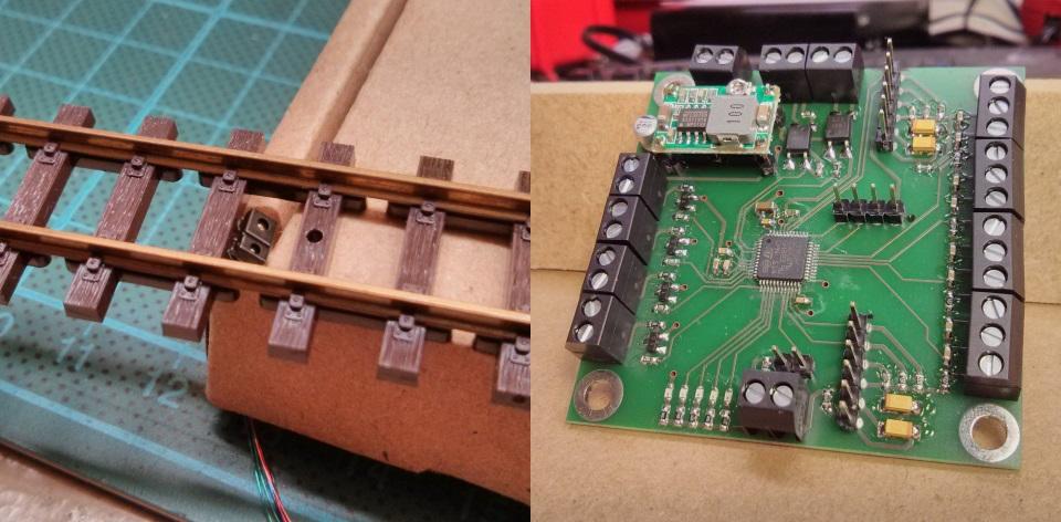bestückte Proximity Sensor Platine und Sensor Montage